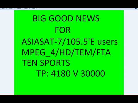 Ten Sports FTA Add On AsiaSat 7 at 105 5°E Free To Air