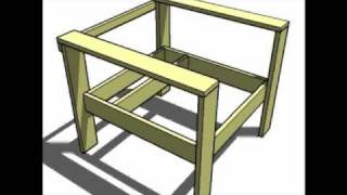 Knock-off Wood Simple Lounge Chair Animated Build