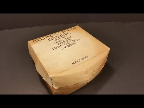 Vietnam War Era US Food Packet In Flight Individual Vintage MRE Review Military Combat Pilot