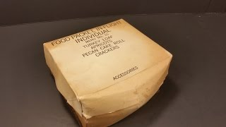 1970 Food Packet In Flight Individual MRE Review C Ration Military Airforce Pilot Meal Kit Unboxing