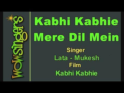 Kabhi Kabhie Mere Dil Mein - Lata - Mukesh - Hindi Karaoke - Wow Singers