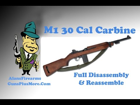M1 30 Caliber Carbine Field strip and re emble. M Carbine Diagram on