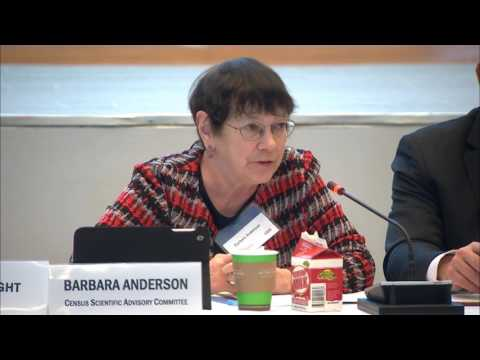 Census Scientific Advisory Committee (CSAC) Meeting 3/30/17 Day 1 Part 1