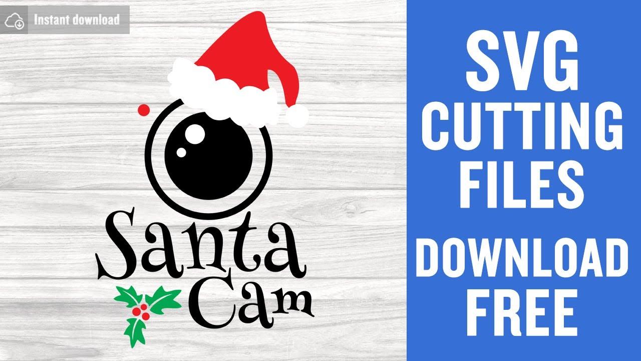 Santa Camera SVG Santa Cam SVG Santa Cam Christmas SVG Silhouette Cut Files Cricut Cut Files