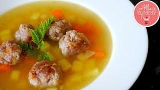 LATVIAN MEATBALL SOUP RECIPE | Frikadeļu zupa | Фрикадельковый суп
