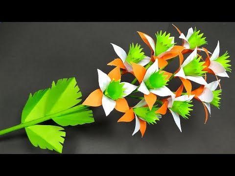 Paper Flower: DIY Beautiful Stick Paper Flower | Flower with Paper Idea | Abigail Paper Crafts