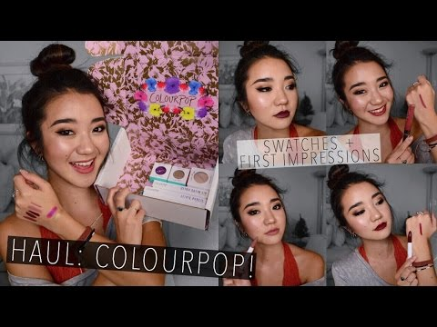 COLOURPOP HAUL: My First Order! | Swatches + First Impressions | May 2016
