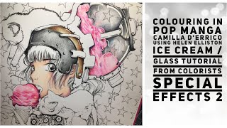 Livestream - Colouring in pop manga using Helen elliston special effects