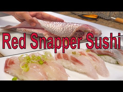 How To Make Red Snapper( Sea Bream) Sushi. How To Fillet.