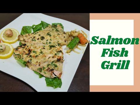 Salmon Fish Grill | Fish Grill Recipe Malayalam | Pan Grilled Fish | Healthy Grilled Fish Recipe