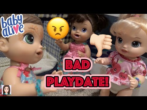 Baby Alive Avi Has a Bad Playdate! Getting In Trouble?