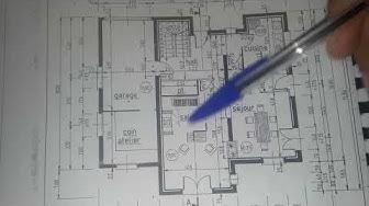 le plan d'architecture et coupe vertical