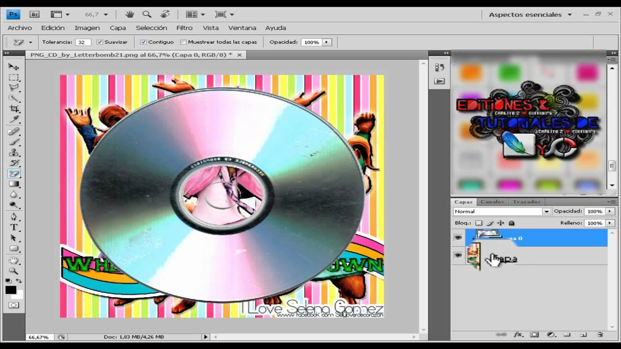 Tutorial Como ponerle La Imagen a un CD - YouTube