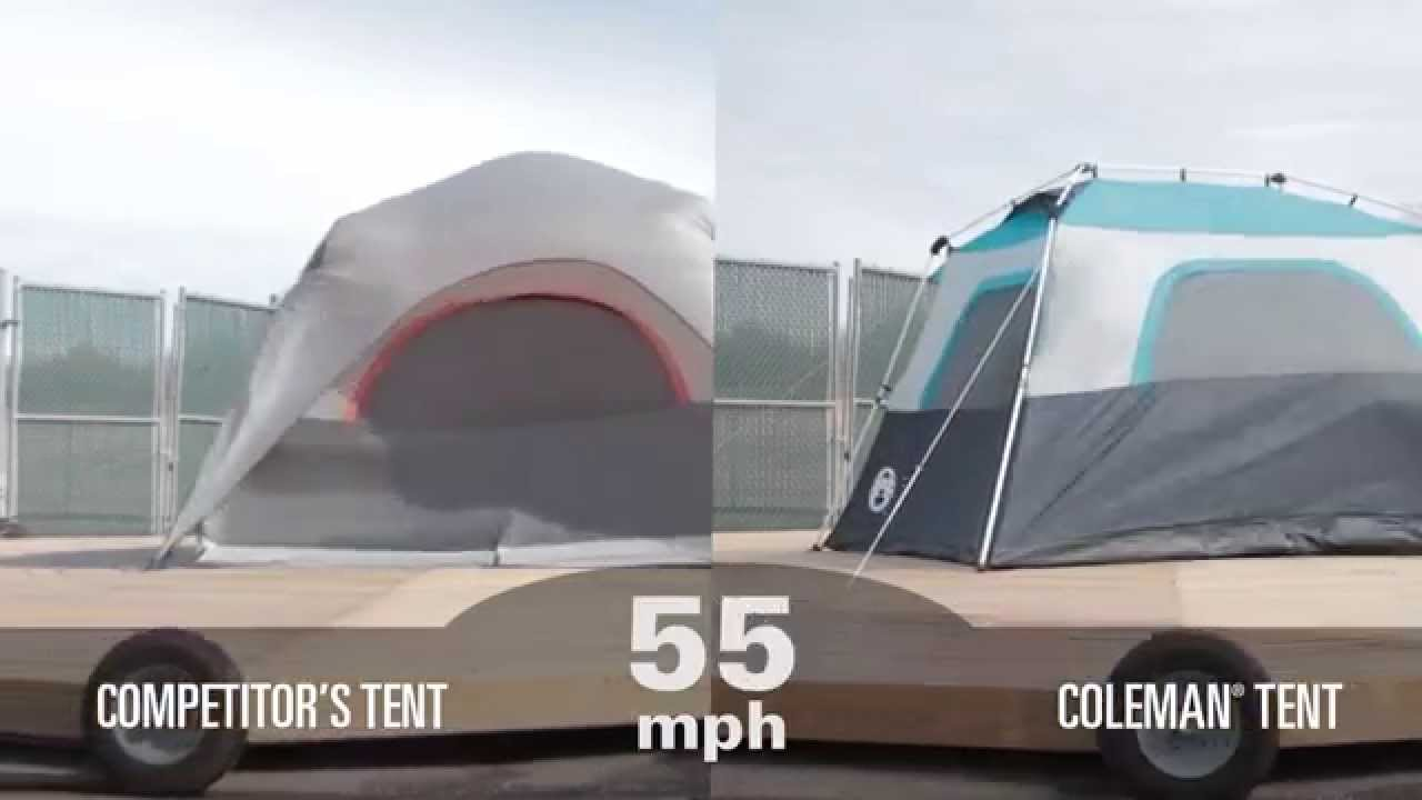 Coleman Tents Rain Vs Wind Testing Youtube