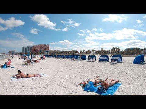 Clearwater Beach, Florida, USA | Walking Tour