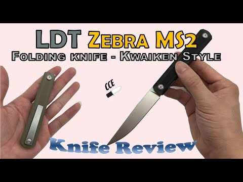 GOOD BANG for your $!!  Review of the LDT Zebra  MS2  - Folding Knife in the