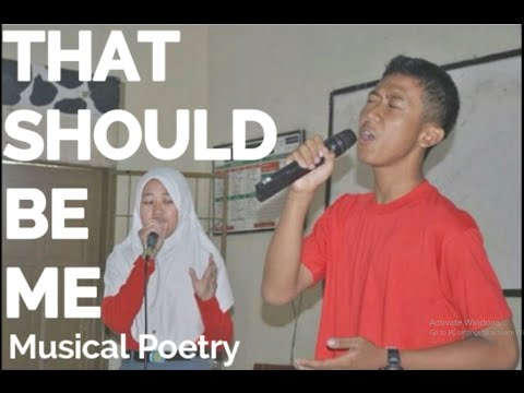 That Should Be Me Musical Poetry ELECTRICAL 2014 SMAN 1 Cicalengka