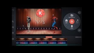 Alien Vs Spiderman Dance  Kinemaster tutorial  green screen effect  Superhero battle