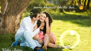 Nind bhi tu mera 👦Khwaab bhi tu hai... Bina tere kaise rahoon... Lovely female whats app status...