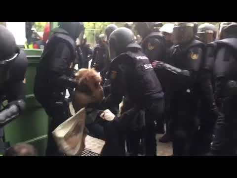 Spanish police drag voters by their hair in Catalan indyref crackdown