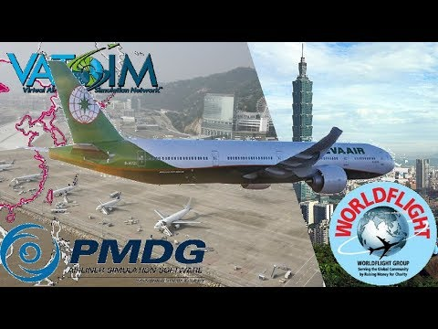 PMDG 777-300ER, Macau to Taipei (WorldFlight 2017)