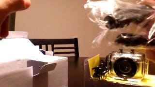 unboxing hd 720p helmet action mini dvr camera sport outdoor waterproof camcorder lcd new