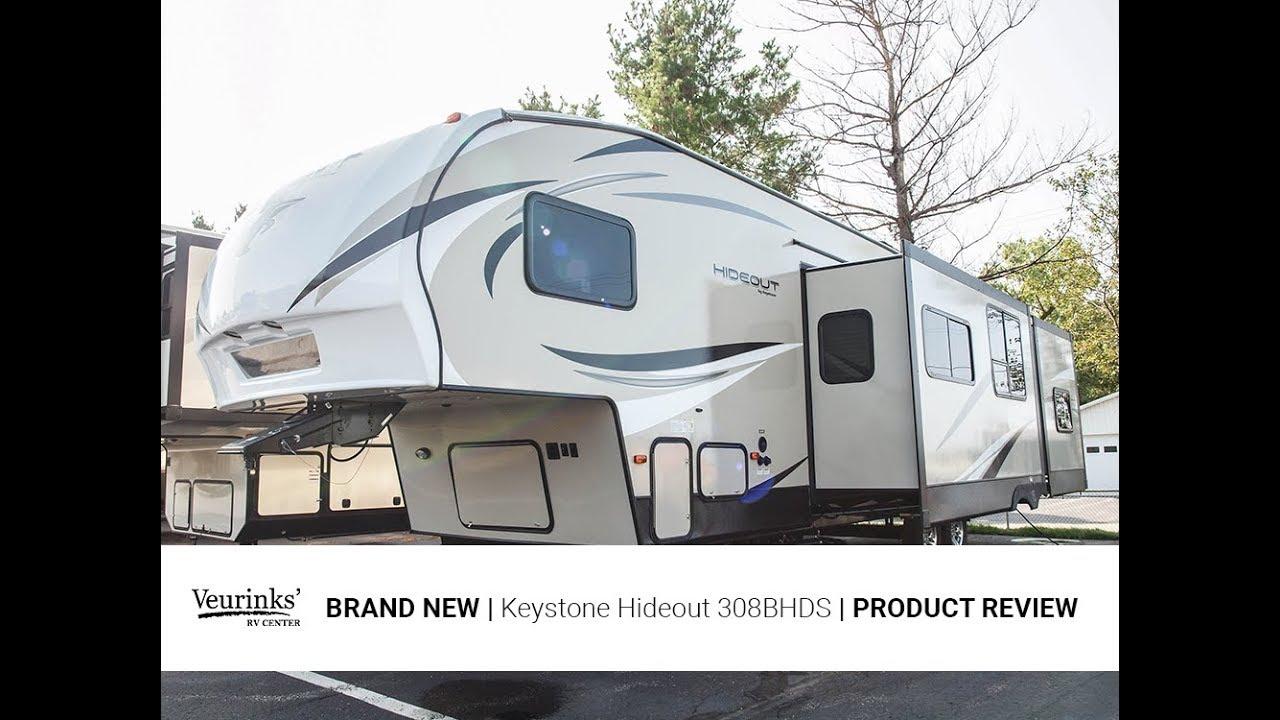 2018 Keystone Hideout 308BHDS   Bunk House Fifth Wheel   Veurinks' RV Center