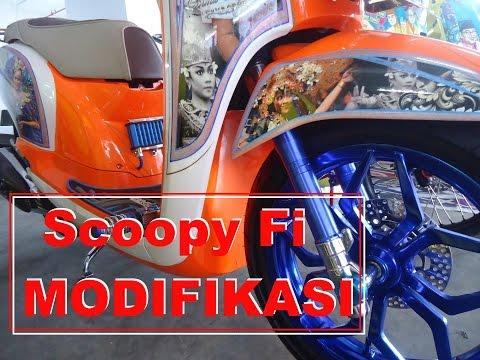 Kontes Modifikasi Scoopy Fi Thailook Elegan Style