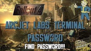 fallout 4 arcjet labs arcjet lab password
