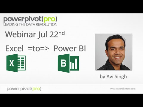 Excel to Power BI: Webinar Recording 2015-07-22