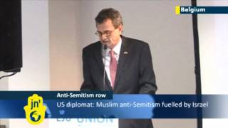 Anti-Semitism blamed on Israel by US ambassador Howard Gutman at EJU in Brussels, Belgium