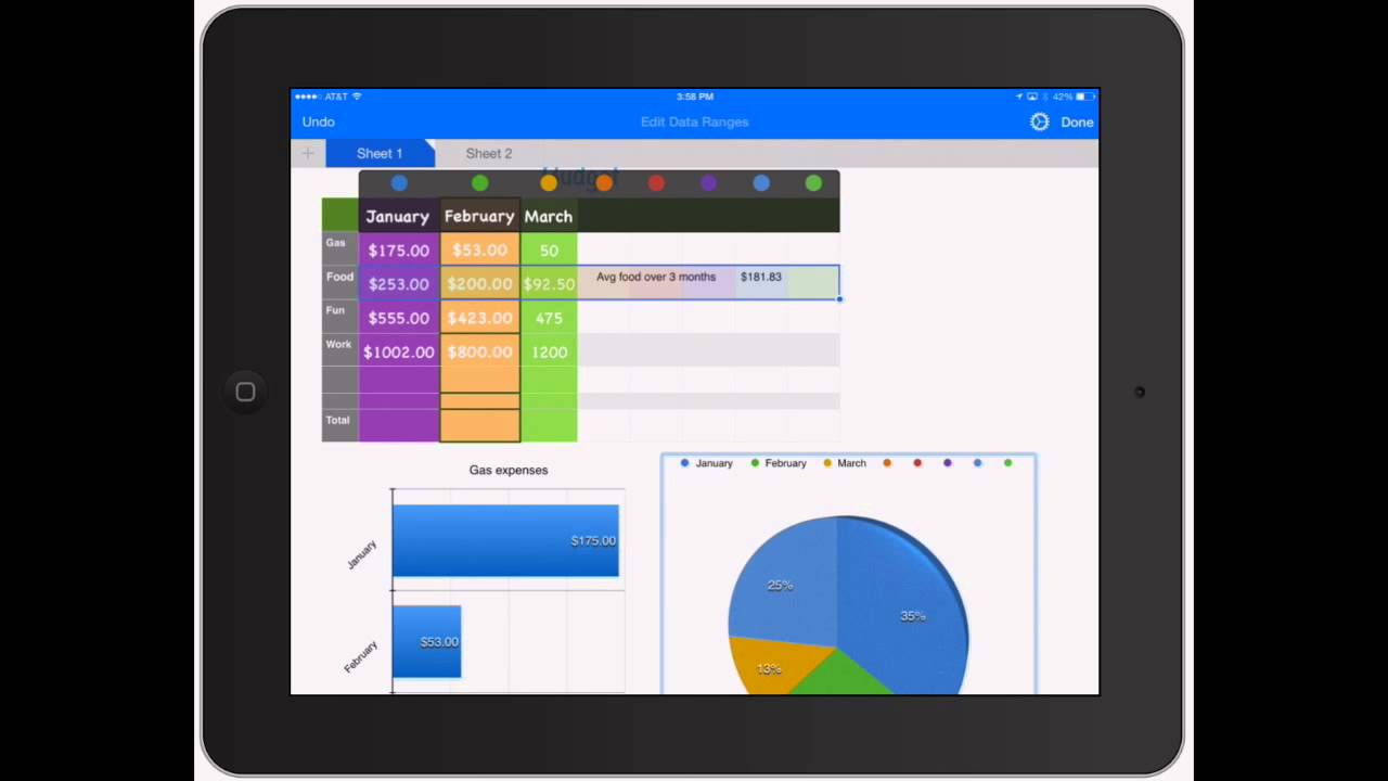 Numbers for iPad: Adding Graphs and Charts to Spreadsheets on iPad ...