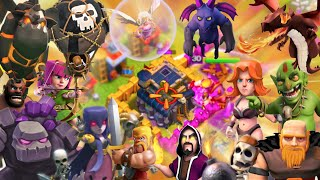 "Clash of Clans - ""EVERY TROOP VS LOW LEVELS!"" GIVE ME 3 STARS! 1 of Every Troop Raids Against Noobs!"