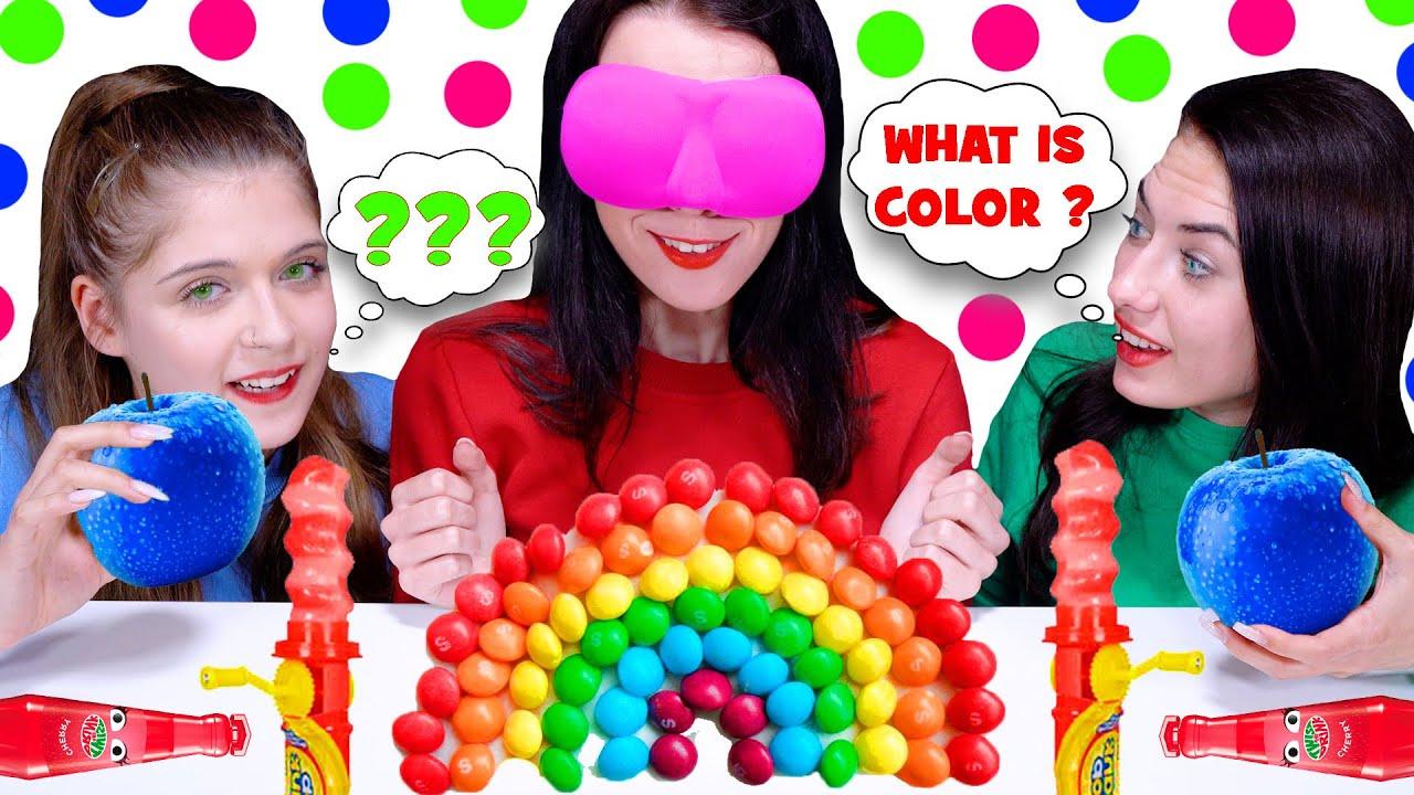 ASMR Guess The Color Food Challenge | Eating Sounds LiLiBu