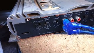 HINDI   4 Channel Car Amplifier Se 2 Subwoofer Kaise Chalayen