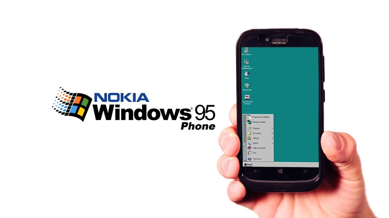 Introducing the Windows 95 Phone - YouTube