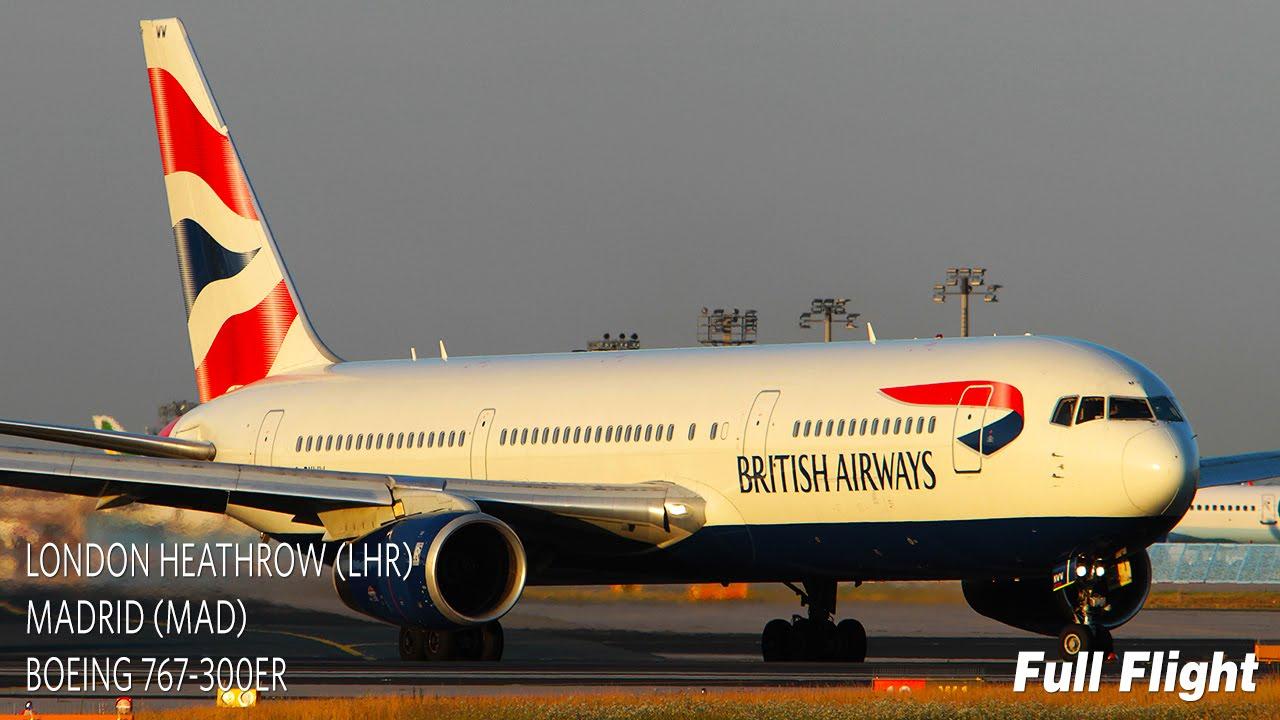 British Airways Full Flight - London to Madrid - Boeing ...