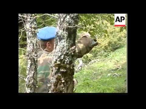 KOSOVO: KLA PLATOON ON PATROL IN JAKOVICA REGION
