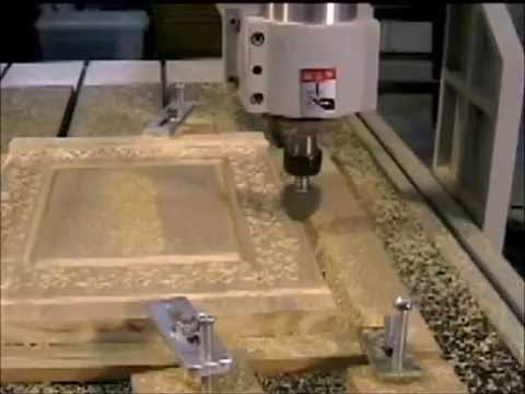 11 CNC router and ArtCam V bit carving a picture frame - YouTube