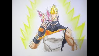 Dessin Drift Skin From Fortnite comme un personnage de Dragonball I Garv art