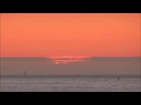 rare the Novaya Zemlya effect sunset