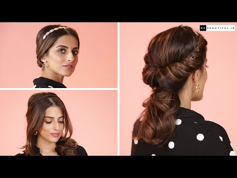 hairstyle-using-hairband-|-hairstyle-tutorial-for-medium-length-hair-|-knot-me-pretty-|-be-beautiful
