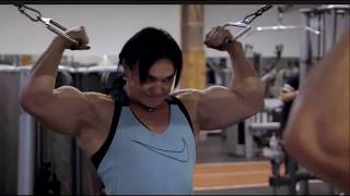 Jay Fuchs Pumping And Flexing Her Divine Muscles On National Swiss TV