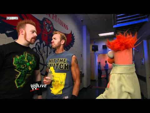 Raw - Sheamus comes to the defense of Beaker in the locker room