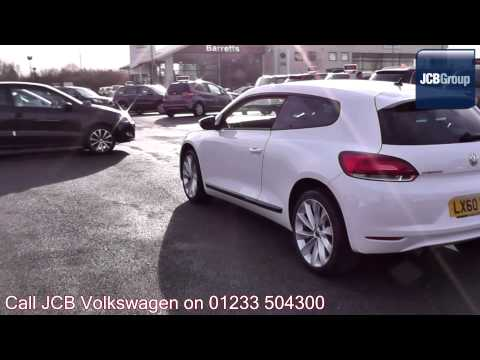 2010 Volkswagen Scirocco GT 2l Candy White LX60EWU for sale at JCB VW Ashford