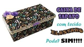 Caixa de Sapato Forrada com Tecido Elastano Sintético
