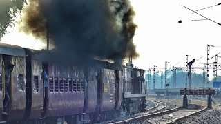 MINI LOCO SMOKING HEAVILY || METRE GAUGE TRAIN OF INDIAN RAILWAYS