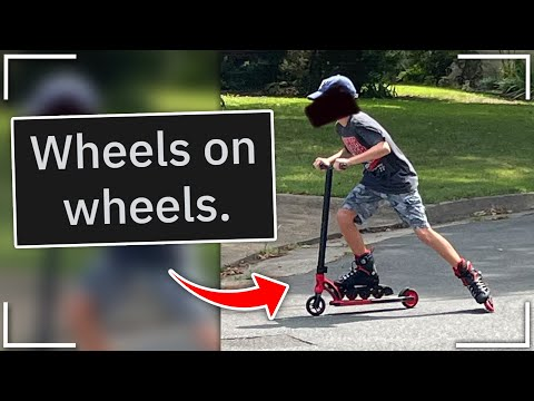 What happens when you Skate on a Scooter? | r/kidsarestupid
