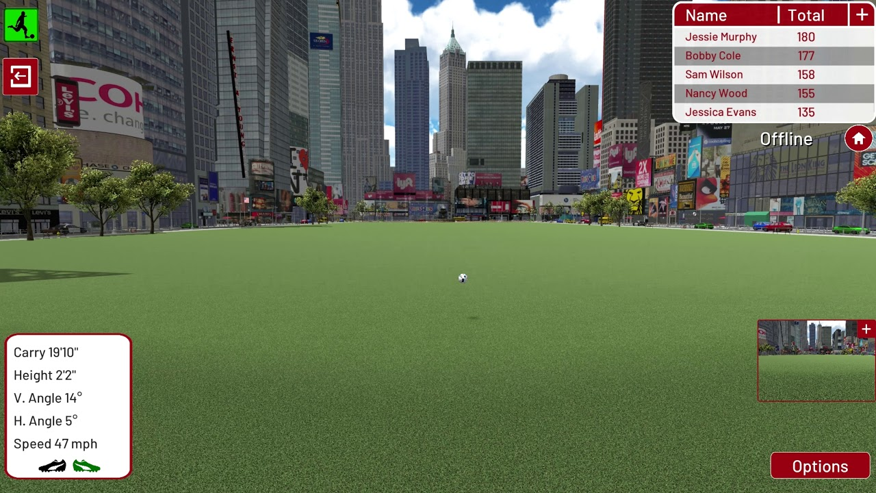 Football Environment   New York   Longest Kick