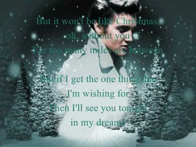 it wont seem like christmas lyrics - Blue Christmas Elvis Presley Lyrics